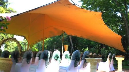 Stretch tent for hire in Cornwall