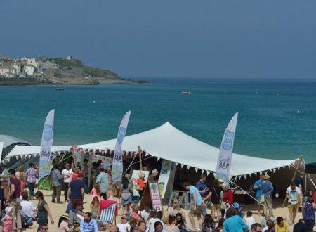 Food festival, Porthminster beach, St Ives, Cornwall