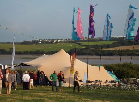 10 x 15m stretch tent to hire in Cornwall